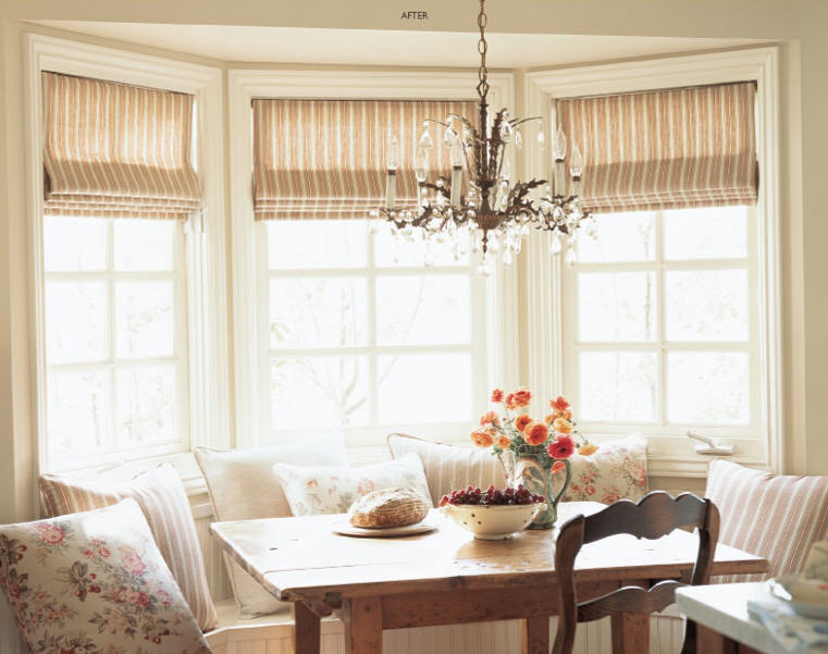 Roman shades designing a room with fabrics sierra for Roman shades for bay window