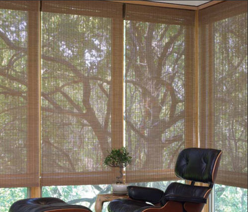 Natural Woven Shades Bringing the Outdoors In Sierra Window